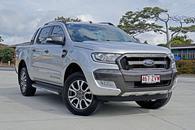 Used Ford Ranger PX MkII Wildtrak Double Cab, 2017 Ford Ranger PX MkII Wildtrak Double Cab Ingot Silver 6 Speed Sports Automatic Utility