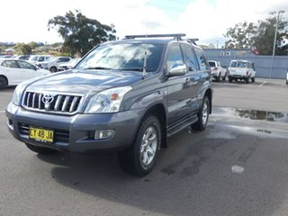 2008 Toyota Landcruiser Prado GRJ120R GXL Grey 5 Speed Automatic Wagon.