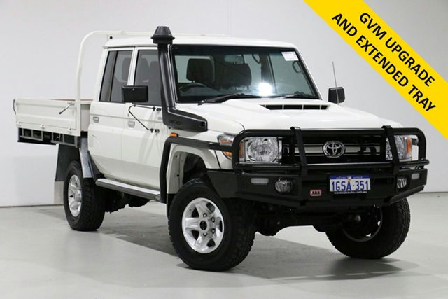 Used Toyota Landcruiser VDJ79R MY18 GXL (4x4), 2018 Toyota Landcruiser VDJ79R MY18 GXL (4x4) White 5 Speed Manual Double Cab Chassis