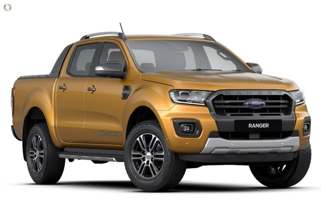 Demo Ford Ranger PX MkIII 2020.25MY Wildtrak Pick-up Double Cab, 2020 Ford Ranger PX MkIII 2020.25MY Wildtrak Pick-up Double Cab Orange 10 Speed Sports Automatic