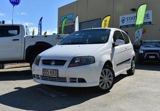 2007 Holden Barina TK MY07 White 4 Speed Automatic Hatchback.
