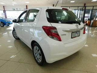 2015 Toyota Yaris NCP130R Ascent White 4 Speed Automatic Hatchback