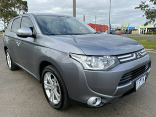 2013 Mitsubishi Outlander ZJ MY13 Aspire 4WD Grey 6 Speed Constant Variable Wagon.