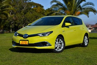 2016 Toyota Corolla ZWE186R Hybrid E-CVT Green 1 Speed Constant Variable Hatchback Hybrid.