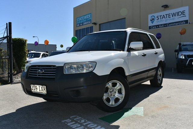Used Subaru Forester MY05 X Capalaba, 2005 Subaru Forester MY05 X White 4 Speed Automatic Wagon