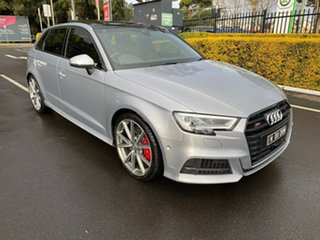 2017 Audi S3 8V MY17 Sportback S Tronic Quattro Silver 7 Speed Sports Automatic Dual Clutch.