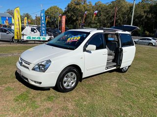 2009 Kia Grand Carnival VQ EXE White 5 Speed Sports Automatic Wagon.