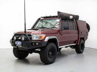 2016 Toyota Landcruiser VDJ79R MY12 Update GXL (4x4) Merlot 5 Speed Manual Double Cab Chassis.