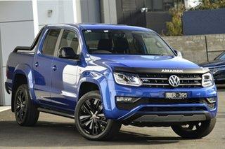 2019 Volkswagen Amarok 2H MY19 TDI580 4MOTION Perm Highline Black Blue 8 Speed Automatic Utility.