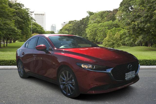 Demo Mazda 3 BP2SLA G25 SKYACTIV-Drive Evolve, 2019 Mazda 3 BP2SLA G25 SKYACTIV-Drive Evolve Soul Red 6 Speed Sports Automatic Sedan
