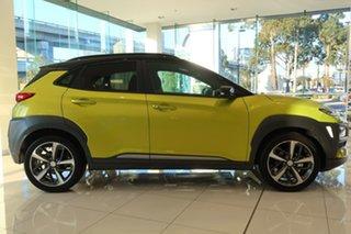 2020 Hyundai Kona OS.3 MY20 Highlander TTR YEL (FWD) Acid Yellow & Black Roof 6 Speed Automatic.
