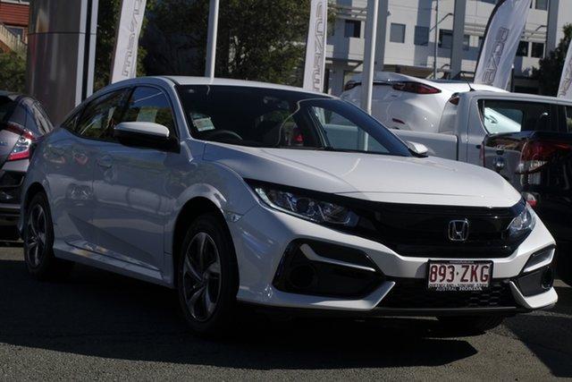 Demo Honda Civic 10th Gen MY20 VTi, 2019 Honda Civic 10th Gen MY20 VTi Platinum White 1 Speed Constant Variable Hatchback