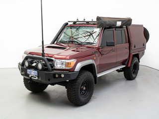 2016 Toyota Landcruiser VDJ79R MY12 Update GXL (4x4) Merlot 5 Speed Manual Double Cab Chassis