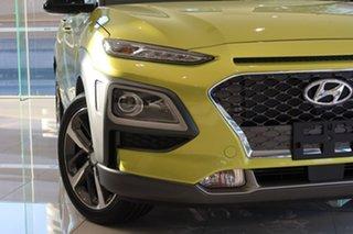 2020 Hyundai Kona OS.3 MY20 Highlander TTR YEL (FWD) Acid Yellow & Black Roof 6 Speed Automatic