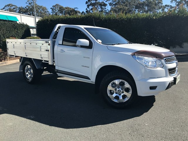 Used Holden Colorado RG MY13 LX 4x2, 2012 Holden Colorado RG MY13 LX 4x2 White 6 speed Automatic Cab Chassis
