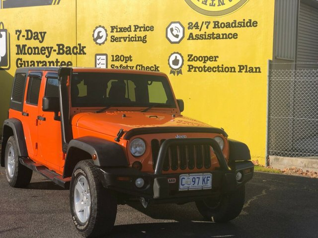 Used Jeep Wrangler JK MY2012 Unlimited Sport, 2012 Jeep Wrangler JK MY2012 Unlimited Sport Orange 6 Speed Manual Softtop