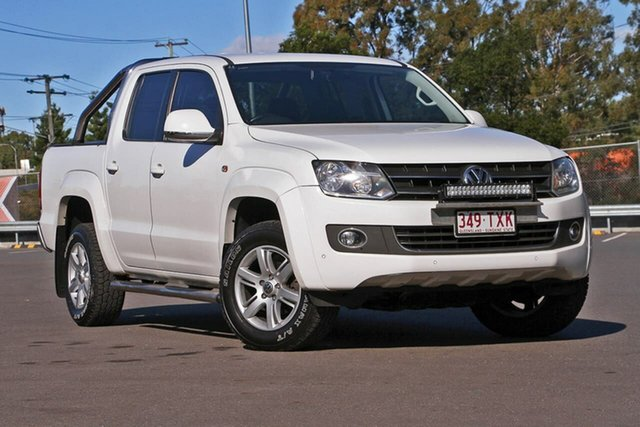 Used Volkswagen Amarok 2H MY14 TDI420 4Motion Perm Highline, 2014 Volkswagen Amarok 2H MY14 TDI420 4Motion Perm Highline White 8 Speed Automatic Utility