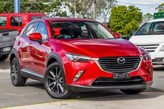 2017 Mazda CX-3 DK4W7A Akari SKYACTIV-Drive i-ACTIV AWD Soul Red 6 Speed Sports Automatic Wagon.
