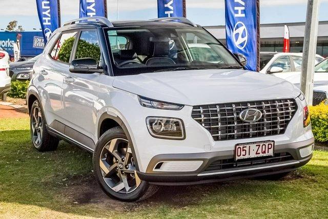 Used Hyundai Venue QX MY20 Elite, 2020 Hyundai Venue QX MY20 Elite White 6 Speed Automatic Wagon