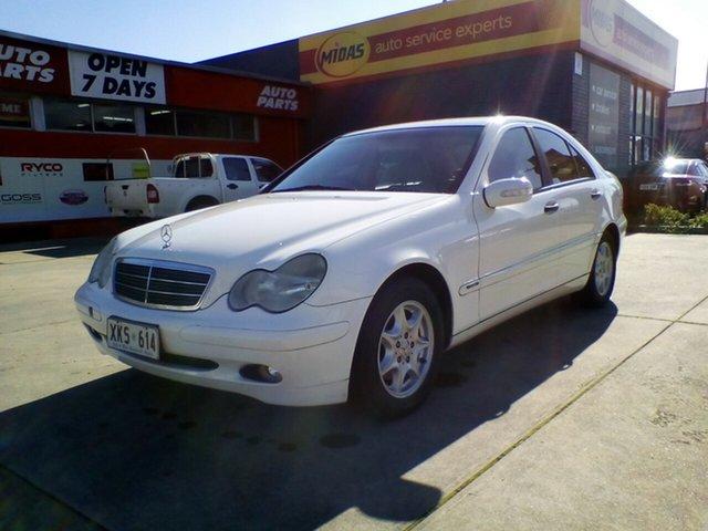 Used Mercedes-Benz C-Class W203 MY2003 C180 Kompressor Classic, 2002 Mercedes-Benz C-Class W203 MY2003 C180 Kompressor Classic White 5 Speed Automatic Sedan