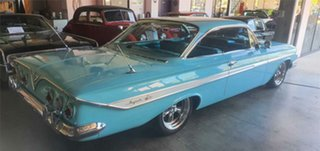 1961 Chevrolet Impala Turquoise 3 Speed Automatic Coupe.
