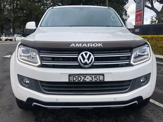 2015 Volkswagen Amarok 2H MY16 TDI420 4Motion Perm Ultimate White 8 Speed Automatic Utility.
