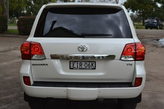 2014 Toyota Landcruiser VDJ200R MY13 Sahara White 6 Speed Sports Automatic Wagon