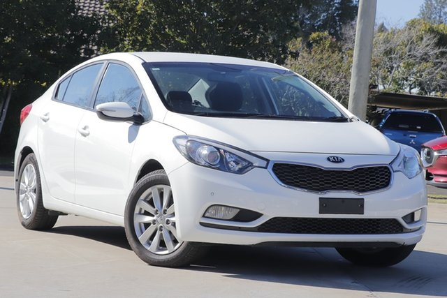 Used Kia Cerato YD MY15 S Premium, 2015 Kia Cerato YD MY15 S Premium White 6 Speed Sports Automatic Sedan
