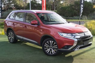 2018 Mitsubishi Outlander ZL MY19 ES 2WD Red/Black 6 Speed Constant Variable Wagon.