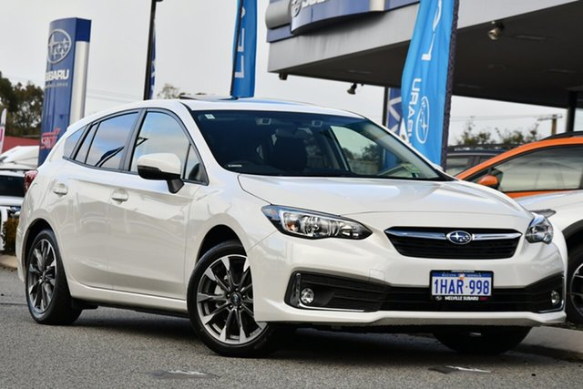Demo Subaru Impreza G5 MY20 2.0i Premium CVT AWD, 2020 Subaru Impreza G5 MY20 2.0i Premium CVT AWD Crystal White 7 Speed Constant Variable Hatchback