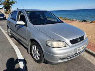 2002 Holden Astra TS MY03 City Silver 5 Speed Manual Hatchback.