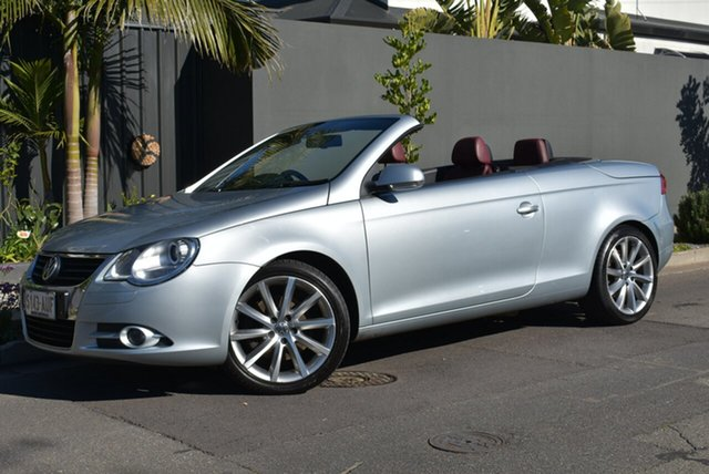 Used Volkswagen EOS 1F MY08 FSI DSG, 2007 Volkswagen EOS 1F MY08 FSI DSG Silver 6 Speed Sports Automatic Dual Clutch Convertible