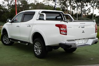 2015 Mitsubishi Triton MQ MY16 GLS Double Cab White 5 Speed Sports Automatic Utility.