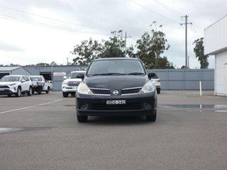 2007 Nissan Tiida C11 MY07 ST Black 4 Speed Automatic Hatchback.