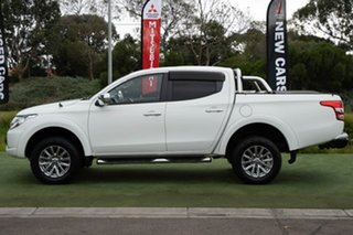 2015 Mitsubishi Triton MQ MY16 GLS Double Cab White 5 Speed Sports Automatic Utility