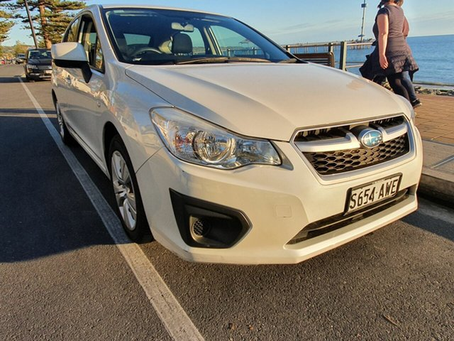 Used Subaru Impreza G4 MY13 2.0i Lineartronic AWD Morphett Vale, 2013 Subaru Impreza G4 MY13 2.0i Lineartronic AWD Pearl White 6 Speed Constant Variable Hatchback