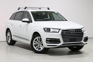 2016 Audi Q7 4M MY17 3.0 TDI Quattro White 8 Speed Automatic Tiptronic Wagon.