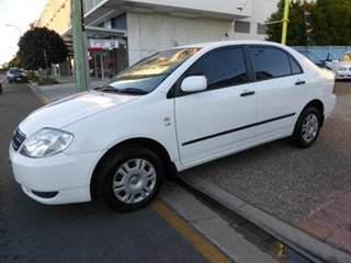 2002 Toyota Corolla ZZE122R Ascent White 4 Speed Automatic Sedan.