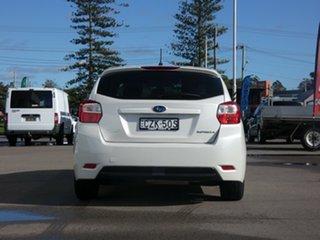 2015 Subaru Impreza G4 MY14 2.0i AWD White 6 Speed Manual Hatchback