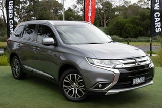 2016 Mitsubishi Outlander ZK MY16 XLS 4WD Grey 6 Speed Sports Automatic Wagon.