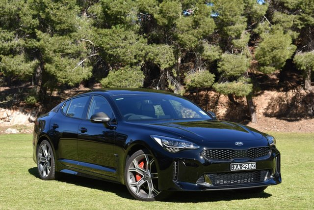 Demo Kia Stinger CK MY20 GT Fastback, 2020 Kia Stinger CK MY20 GT Fastback Aurora Black 8 Speed Sports Automatic Sedan