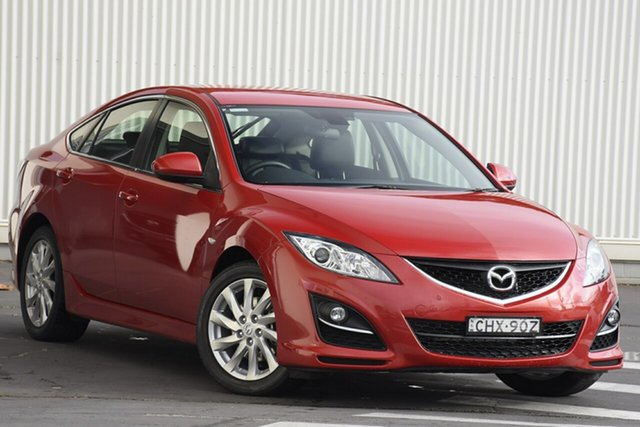 Used Mazda 6 GH1052 MY12 Touring, 2012 Mazda 6 GH1052 MY12 Touring Red 5 Speed Sports Automatic Sedan