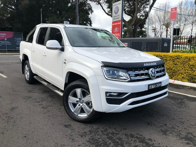 Demo Volkswagen Amarok 2H MY19 TDI550 4MOTION Perm Highline, 2019 Volkswagen Amarok 2H MY19 TDI550 4MOTION Perm Highline White 8 Speed Automatic Utility