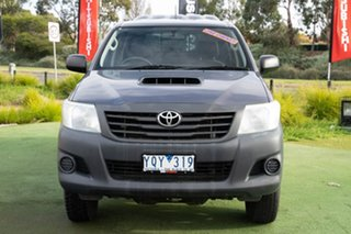 2011 Toyota Hilux KUN26R MY12 Workmate Double Cab Grey 4 Speed Automatic Utility.