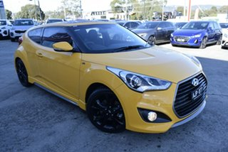 2016 Hyundai Veloster FS4 Series II SR Coupe D-CT Turbo Yellow 7 Speed Sports Automatic Dual Clutch.