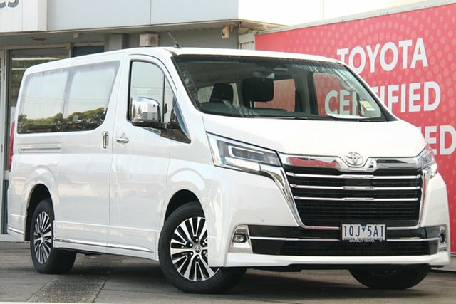 Pre-Owned Toyota Granvia GDH303R Glen Waverley, 2019 Toyota Granvia GDH303R Crystal Pearl 6 Speed Sports Automatic Wagon