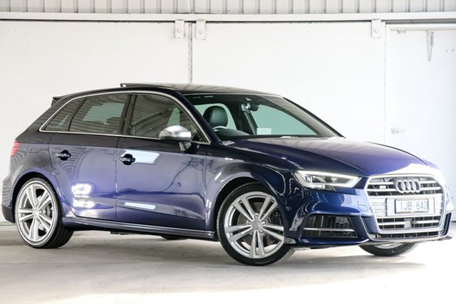 Used Audi S3 8V MY17 Sportback S Tronic Quattro, 2017 Audi S3 8V MY17 Sportback S Tronic Quattro Blue 7 Speed Sports Automatic Dual Clutch Hatchback