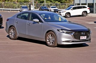 2019 Mazda 3 BP2S7A G20 SKYACTIV-Drive Pure Sonic Silver 6 Speed Sports Automatic Sedan.