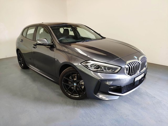 Demo BMW 118i F40 M Sport DCT, 2019 BMW 118i F40 M Sport DCT Mineral Grey 7 Speed Sports Automatic Dual Clutch Hatchback