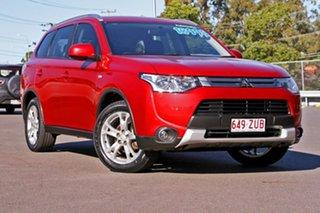 2015 Mitsubishi Outlander ZJ MY14.5 ES 4WD Red 6 Speed Constant Variable Wagon.